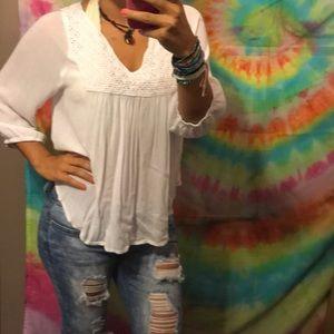 White flowy blouse